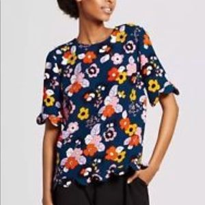 Victoria Beckham for Target Floral Scallop Trim